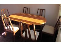 Nathan Drop Leaf Table and Six Chairs