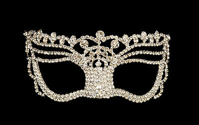 Mask Venetian Wolf of Luxury Diamante and Lace Metal Carnival Venice 1272