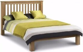 Julian Bowen Amsterdam Oak King Size Bed Low Foot End Can Deliver View Collect Hucknall Nottingham