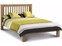 Julian Bowen Amsterdam King Size Oak Bed Low Foot End **CAN DELIVER**