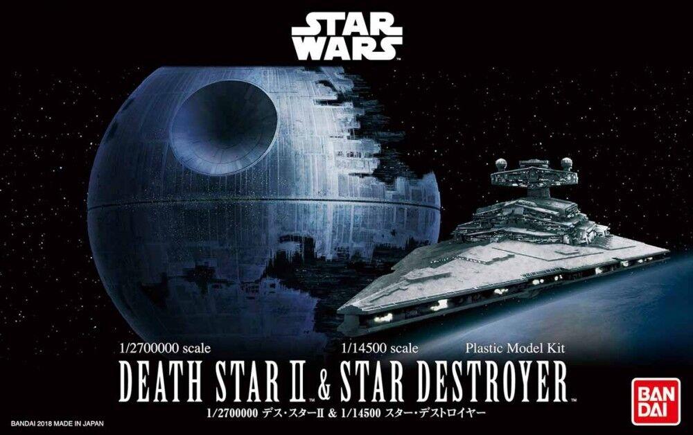 New Bandai Star Wars 1/2700000 Death Star II & 1/14500 Star Destroyer Model Kit