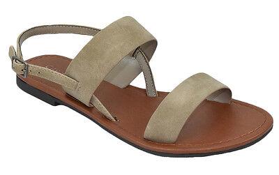 City Classified Shoes Women Basic Gladiator Sandals Ankle Strap Beige Tan Winnie