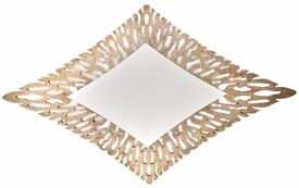 Large Gold Diamond Shaped Wall Mirror Designer Bronze 166 x 100 cm Lounge Hall Bedroom RRP £295