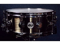 "DW / Drum Workshop Collectors Series 14x5.5"" Antique Brass / Cast Steel Snare VGC"