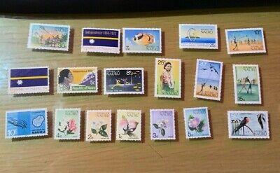 B1339 Republic of NAURU 18 MINT stamps no reserve