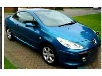LOVELY EXAMPLE OF THIS 2006 PEUGEOT 307CC CONVERTIBLE DIESEL FOR SALE ONE YEARS MOT SWAP OR PX