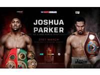 2x Tickets for AJ vs Parker