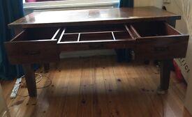 SOLID OAK DESK/ TABLE, only £300 ( original price £650)