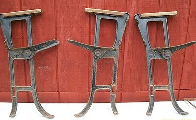 HEAVY CAST IRON INDUSTRIAL AGE, BENCH OR TABLE LEGS 3PC