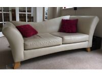 2 Chaise Style Leather Sofas