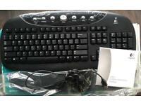 Brand New Logitech Wireless / Cordless Keyboard Internet Pro Desktop