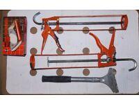Paint scraper (Hamilton) & 2 adhesive applicators