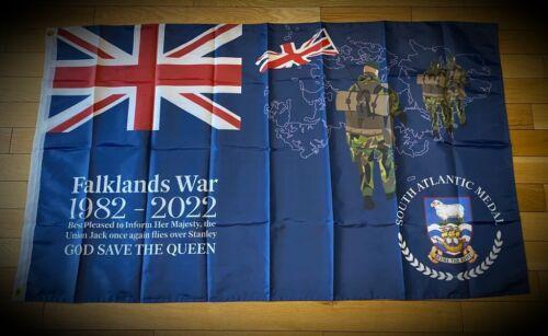 Falklands War 40th Anniversary 1982 - 2022 Commemorative Flag UK British