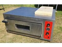 Single deck electric pizza oven.