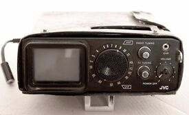 """Portable Vintage Television (JVC P100UKC) 2"""" Highly collectable and rare"""