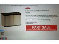 USED RUBBERMAID HORIZONTAL STORAGE SHED 18cb.ft