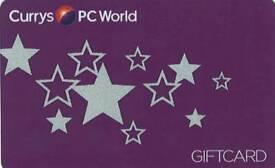 Gift Card. Voucher. Pc world