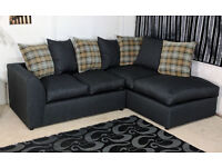 NEW DYLAN LH/RH CORNER CANE GREY SOFA   1 YEAR WARRANTY   EXPRESS DELIVERY ALL UK   SPRING BASE