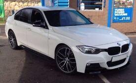★ALPINE WHITE★ BMW 318D M SPORT BUSSINESS EDT - M PERFORMANCE PACK★ LEATHER ★ WARRANTY ★ HUGE SPEC