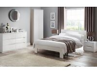 JULIAN BOWEN White High Gloss Manhattan Bedroom Furniture CAN DELIVER