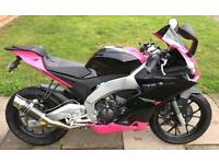April is rs4 125cc pink
