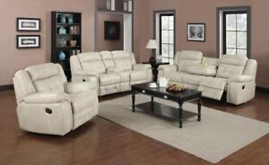 Beige Recliner Set with Drop down Tray - Brampton Air (GL08-6501) (BD-1393)