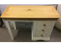 Country Style Oak Top Dressing Table 3 Drawer Desk - Immaculate Condition - Enderby - Collection