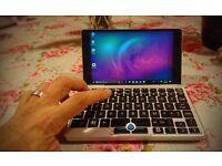 "GPD Pocket. 7"" mini-laptop. Brand new. 8GB RAM/128GB eMMC. Upgraded to Windows 10 Pro. Rare!"