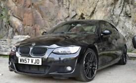 Black BMW 335D 372BHP Stage 2 ; M Sport ; Red Leather ; 1 Year MOT M3 335I