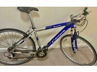 ✅21 in.²/24 speed refurbish blue and silver Carrera crossfire🔥2000 hybrid Cycle 📲