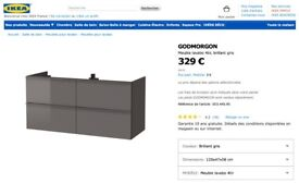 NEW! Ikea Vanity Unit - 120cm (purchased in France)