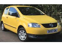 VW Fox 1.2 Urban Fox in 3 Door in Imola Yellow LOW Mileage & LOW Running Costs & MOT September 2018