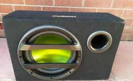 Fusion sub with build in amp in very good condition! Strong bass! Can deliver or post! Thank you