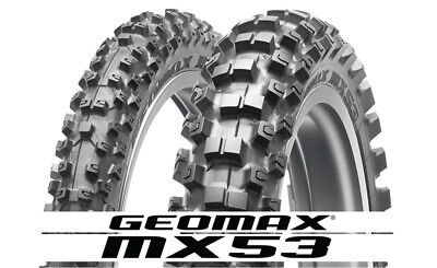 Dunlop Motorcycle Tire Combo Geomax MX-53 Front 80/100-21, Rear 120/80-19 -
