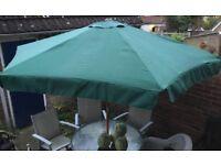 Giant Garden Patio Umbrella/ Parasol wooden with pulley Bury St Edmunds