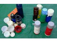 Joblot of vacuum thermos flasks and spares