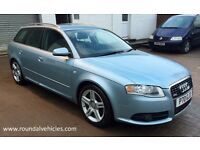 BEAUTIFUL 2005 Audi A4 Avant 2.0 T S Line s-line Est 140k, Mot Sept17,New tyres, refurbished alloys