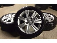"GENUINE AUDI 17"" A3/A4/A6 ALLOYS W/WINTER TYRES 225/50/17 - VW GOLF PASST SEAT SKODA - SLOUGH"