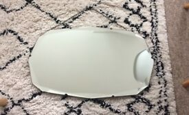 Vintage 1930s Art Deco 12 Sided Diamond Cut Bevelled Edge Wall Mirror