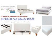 Tivoli Super King White Bedstead + Ortho Foam 140 Mattress
