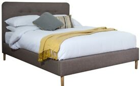 Contemporary bed frame + king size memory foam mattress