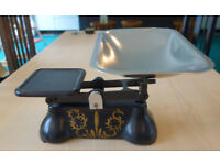 Traditional Kitchen Weighing Scales - H. Fereday & Sons with metric and Imperial weights.)