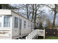 Haggerston Castle caravan for hire to families only 8 berth/3bedrooms.