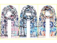 Wholesale Lot Luxury Silk Blend Maxi Scarf - 80 Pieces Assorted Designs