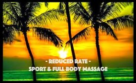 Reduced Rates - Sports and Full Body Massage - Belfast City Centre