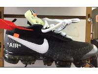 "New Nike vapormax ""off white"" sizes 6-11"