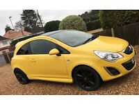 vauxhall corsa limited edition (YELLOW)