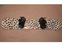 Burton Social 151cm women's Snowboard, burton bindings