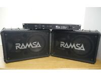 PA System - Power Amp and Speakers