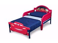 Disney Cars 3D Toddler Bed with Mattress - Almost new